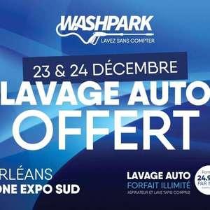 Lavage auto offert les 23 et 24 décembre - Wash Park Orléans (45)