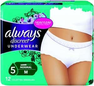 Culottes pour incontinence Always Discreet Underwear (via Shopmium)