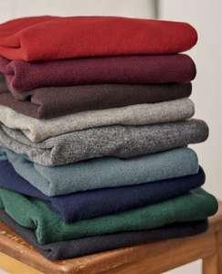 Pull à col rond - en cachemire & mérinos, différents coloris et tailles