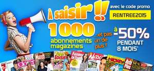 -50% sur 1000 magazines pendant 8 mois