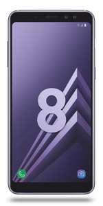 """Smartphone 5.6"""" Samsung Galaxy A8 (2018 - Coloris au choix) - 32 Go (Via ODR 50€)"""