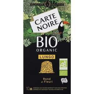 Café de 10 capsules de café Carte Noire Lungo Bio
