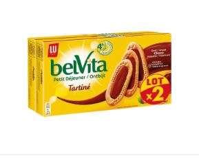 Lot de 2 paquets de Biscuits Lu Petit Déjeuner Belvita  - 2 x 250g (via BDR)