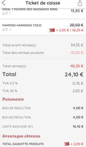 2 Paquets de 22 Couches Pampers taille 3 harmony (  taille 3-4-5) - Onet le château (12)