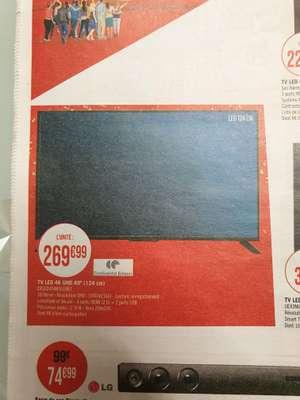 "TV LED 49"" Continental Edison - UHD 4K"