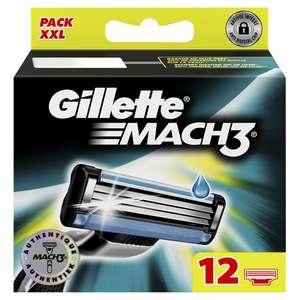 Pack XXL de 12 Lames de Rasoir Gillette Mach 3 (Via Carte de Fidélité)