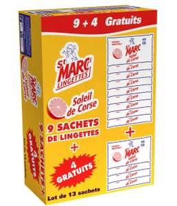 Lot de 13 paquets de 80 Lingettes multi-usages St Marc parfum soleil de Corse (via 8.05€ sur la carte fidélité)  - Givors (69)