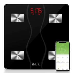 Pèse-personne impédance-mètre connecté   iTeknic - Bluetooth, Noir (vendeur tiers)