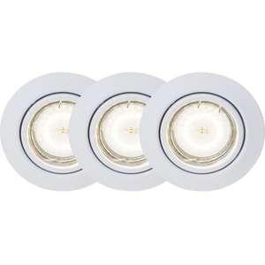 Kit de 3 spots LED encastrables orientables Brilliant - 5W, 3000K, Blanc