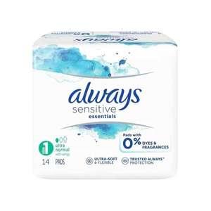 Paquet Gratuit de 14 Serviettes Intimes Always Sensitive Essentials (Via ODR 100% Remboursé) - Courlancy Reims (51)