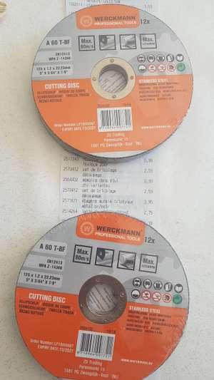 Lot de 12 disques à découper pour meuleuse - Brignoles (83)