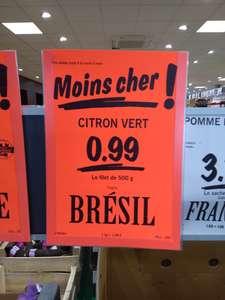 Sélection de fruits et légumes en promotion - Ex : citron vert (origine Brésil) -