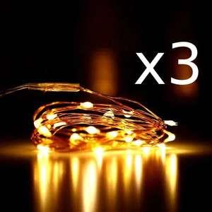 50% de réduction dès 3 articles achetés sur une sélection de produits - Ex : lot de 3 guirlandes LED