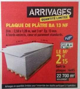 Plaque de plâtre BA13 - Prix au m²