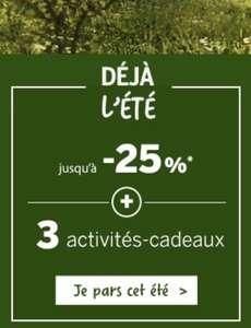 Jusqu'à 25% de réduction + 3 activités offertes sur une sélection de séjour Center Parc