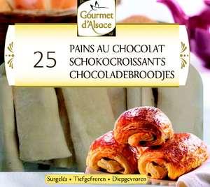 Sachet de 25 Pains au chocolat surgelés Gourmet d'Alsace - 1.25Kg