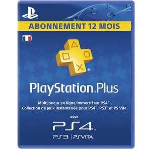 Carte d'abonnement de 12 mois au PlayStation Plus