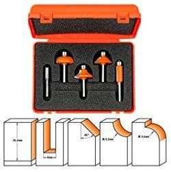Coffret de 5 fraises CMT Orange Tools, pour défonceuse