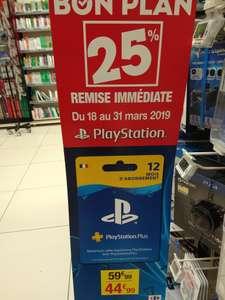 Abonnement de 12 Mois au PlayStation Plus - Laon (02) / Euralille (59)