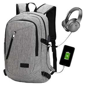Sac à dos avec port USB Netchain - gris ou noir (vendeur tiers)