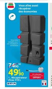 Récupérateur d'eau EDA  310L + Kit collecteur