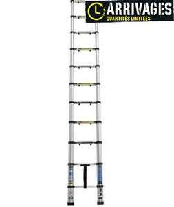 Échelle télescopique 11 échelons (3,2 m)