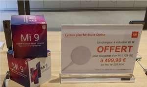 "Smartphone 6.39"" Xiaomi Mi 9 - SnapDragon 855, 6Go de RAM, 128Go, 4G (B20/B28), bleu ou noir + Pad de recharge 20W (Opéra 75)"