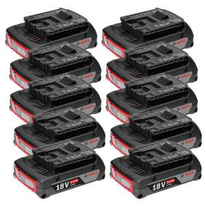 Pack 10 batteries Bosch Professional GBA - 18V (gotools.de)