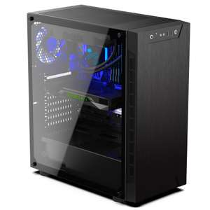 Tour PC Fixe Gaming Armis - Ryzen 5 2600, RAM 16Go (3000Mhz), 1To + SSD 240Go, RTX 2060 OC 6Go, 600W 80+Bronze