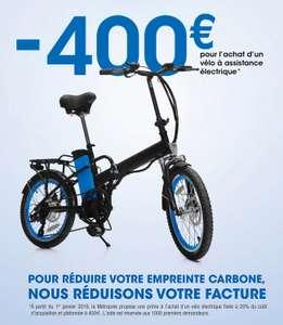 [Résidents Bouches-du-Rhône] 25% du prix TTC remboursés pour l'achat d'un vélo/cycle & tricycle neuf à assistance électrique (Maximum 400€)