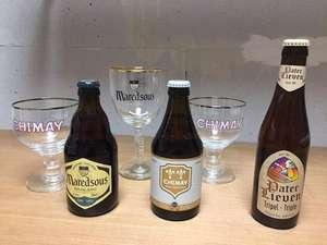 3 Bières Triples en 33cl. 1 Chimay + 1 Maredsous + 1 Pater Lieven + 3 Verres (Lambersart 59)