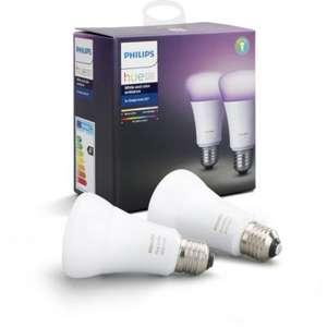 Pack de 2 Ampoules Philips E27 Hue White & Color + 1 Pack offert (soit 25€ l'ampoule Hue Color)
