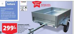 Remorque Erdé A150 - 150x145x35 cm, 500 kg max.