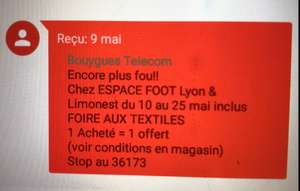 1 article acheté = 1 offert - Lyon & Limonest (69)