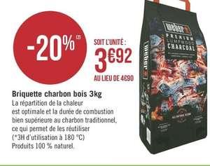 [Appli Max] Briquettes Weber de charbon de bois - 3kg (Via 0,98€ de réduction immédiate + 0,98€ sur la carte de fidélité) - SEYNOD (74)