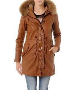 Parka femme en cuir Redskins (Taille au choix)