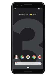 """Smartphone 5.5"""" Google Pixel 3 - 64Go, Noir avec coque  + 1 Mois de forfait Appels, SMS, MMS illimité, 40Go de Data (Sans Engagement)"""