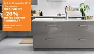 [Ikea Family] 20% de réduction sur les cuisines Ringhult