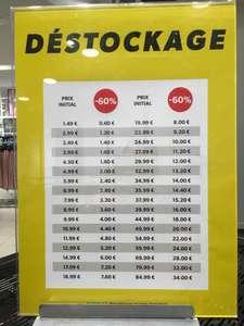 60% de réduction sur toute la boutique - New look Lyon Part-Dieu (69)