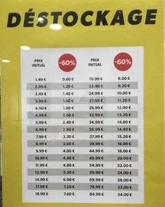 -60% sur tout le magasin - Thiais (94)