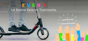 Un casque et un gilet de visibilité connecté pour trottinettes offerts le 19 Juin de 12h30 à 20h30 - Port Solférino (Paris 7e)