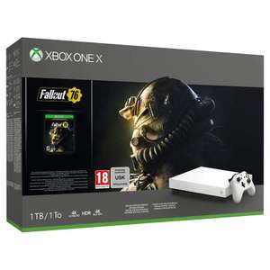 Console Microsoft Xbox One X 1 To Edition Limitée Robot White + Fallout 76 + Pack Apex Legends Founders & Gears of War 4