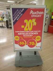 20% de réduction sur tous les articles soldés avec pastilles jusqu'à 90% - Épagny (74)