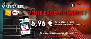 [Adhérents Fnac/Darty] Place de Cinéma e-Ciné chèque à 5.95€ (Cine-market.fr)