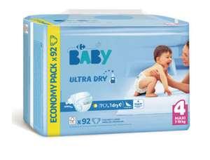 Couches Ultra Dry Carrefour Baby (via 10, 26€ sur le compte fidélité)