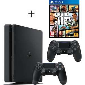 Pack Console Sony PS4 (500 Go) + 2ème Manette + GTA V