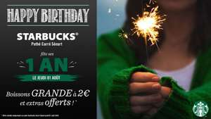 Toutes les grandes boissons Grande (473ml) à 2€ + Extras offerts - Carré Sénart Lieusaint (77)