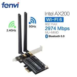 Carte réseau Wi-Fi fenvi - Intel AX200 2.4G/5 Ghz 802.11ac/ax avec Bluetooth 5