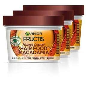 Lot de 3 Masques Nourrissant Garnier Fructis Hair Food Macadamia - 3 x 390 ml
