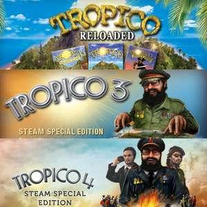 Bundle Tropico Reloaded (1 & 2) + Tropico 3 Special Edition + Tropico 4 Special Edition sur PC (Dématérialisé - Steam)